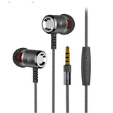 Heavy Bass Hifi Sound Quality Music Metal Earphone With Mic  EZ373-BLACK - EZELLER