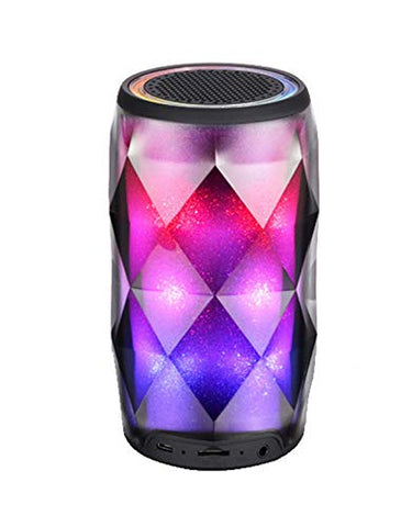 IVON Bluetooth Speakers Touch Control LED Lights 6 Light Modes Built-in TF Slot, AUX Inn and Mic Elite Look Ideal for Home and Restaurants - EZELLER