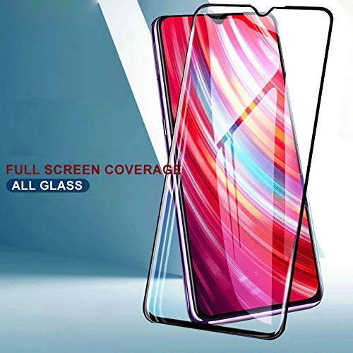 REDMI Note 8 PRO Full Tempered Glass 11D by Tel, Ultra Clear, Zero Bubbles - EZELLER
