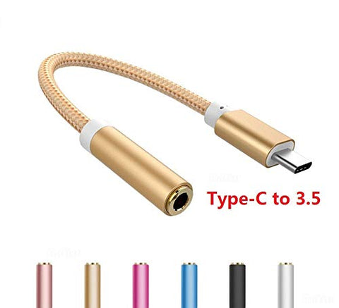 BSPOWER Type C AUX to 3.5mm Headphone Jack Adapter, Bspower USB Type-C to 3.5mm Adapter Nylon Cable Adapter Cable for Smartphones, Tablets, Flash Drive, Mouse, Keyboard, Game Controller Etc. - EZELLER