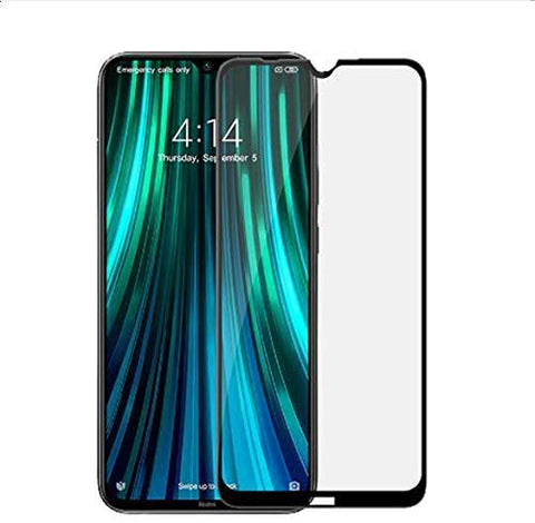 REDMI Note 8 Full Tempered Glass 11D by Tel, Ultra Clear, Zero Bubbles, Sensitive Touch