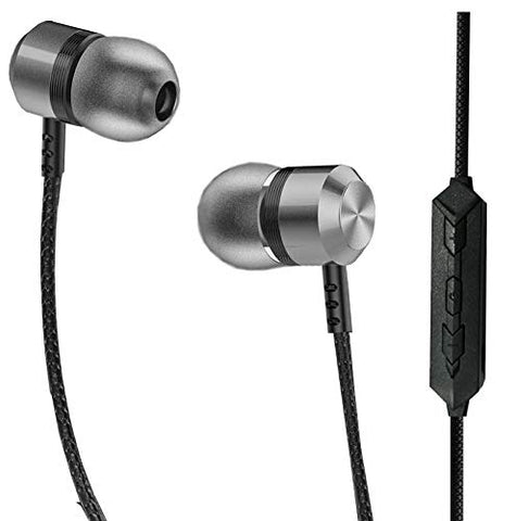 JOY Metal Neckband Wireless Earphone with Mic Compatible for All Mobile Phone, Tablets, Laptops, Etc.
