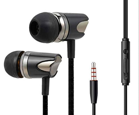 TRex Head Earphone with Mic Compatible with All Andriod MobilePhones, Tablets EZ466 (Black) - EZELLER