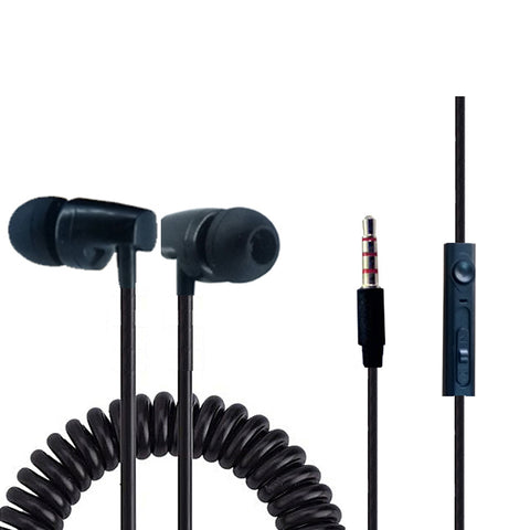 KStar Spring Earphone with Classy Head Universal Supported 3.5 mm jack EZ414 - EZELLER