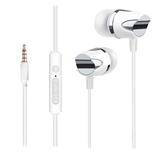 TRex Head Earphone with Mic Compatible with All Andriod MobilePhones EZ466 (white) - EZELLER