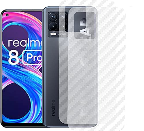 RealMe 8 PRO Back Screen Protector by Ctel, 3D Back Skin Carbon Fiber Ultra-Thin Protective Film (2 Packs) Transparent Back Cover for RealMe 8 PRO