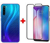 MI NOTE 8 (2N1) Combo Pack FULL TEMPERED GLASS + Back Screen Protector By Tel, Ultra clear, 3D Carbon Fiber Ultra-Thin, Full Glue Tempered + Back Cover Mobile Screen protector - EZELLER