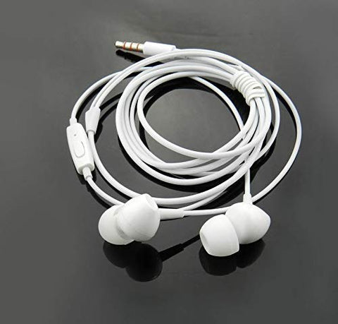 Kin Fashion in Ear Earphone with Mic/Earbuds/Headphones/Headsets 3.5mm with Stereo Compatible All Mobile Phone, Tablets and Laptops - EZELLER