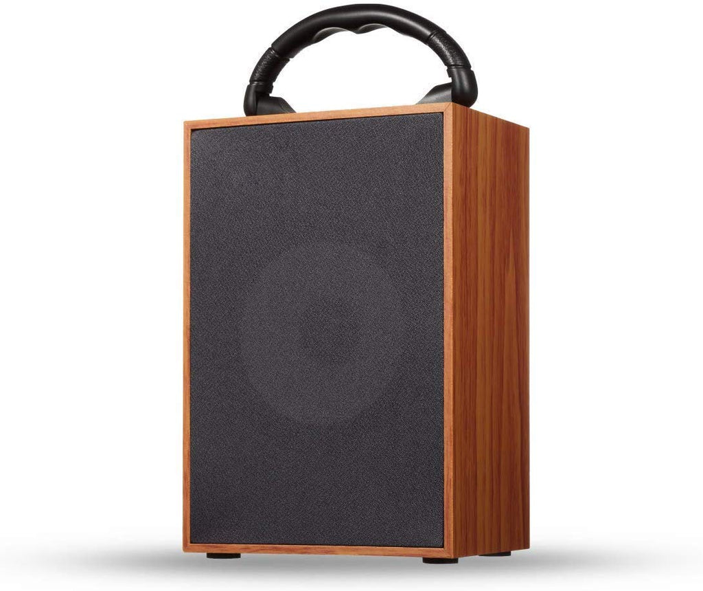 Wooden Wireless Speaker Box with FM Radio Plug & Play TF Card Slot USB Slot - EZELLER