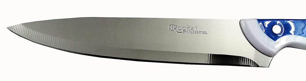 Crown Knifes Large Knife Long Blade Width German Steel for Fruits, Vegetables, Meat & Multi-Purpose EZ596 - 7 Inches