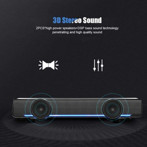 Smart Speaker Bluetooth Sound bar FM Portable Subwoofer Wireless Speakers - EZELLER