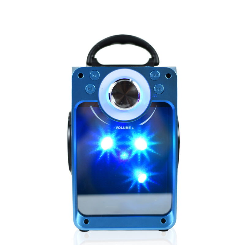 DJ Blast Wireless Bluetooth Speaker with LED, FM Radio, USB SLOT, SD Card, Aux In- EZ405-BLUE - EZELLER