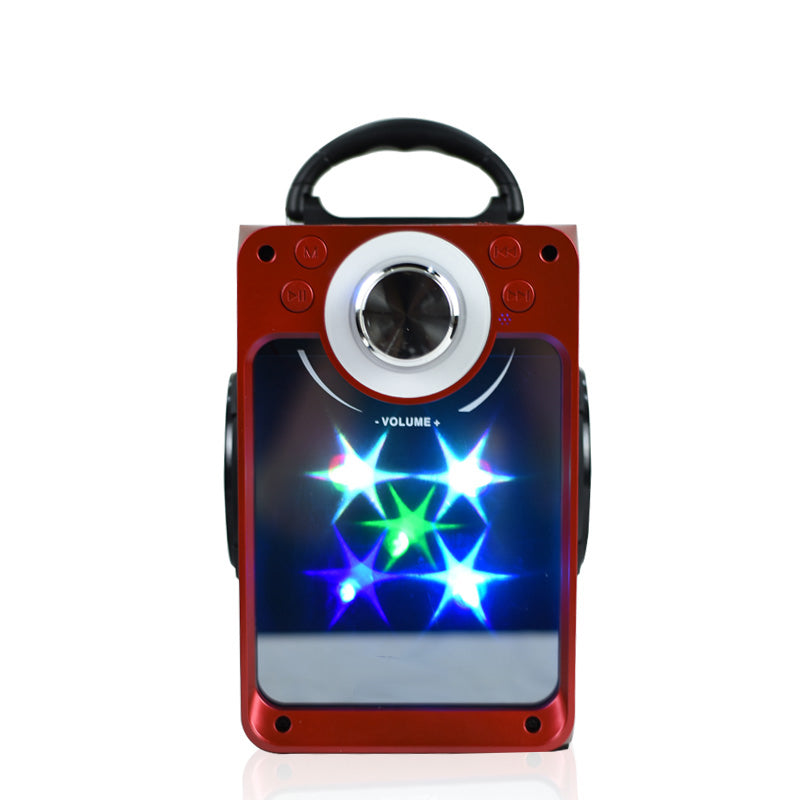 DJ Blast Wireless Bluetooth Speaker with LED, FM Radio, USB SLOT, SD Card, Aux In- EZ405-RED - EZELLER