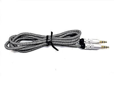 High Quality Metal AUX Cable  Jack EZ064-Metallic Silver - EZELLER