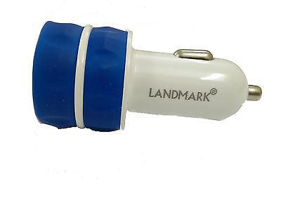 Land mark Car charger LM CC 502 with cable  -ezo36- BLUE - EZELLER
