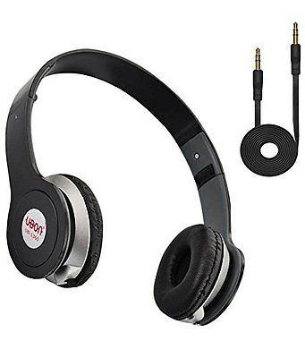 UBON Head set black  Music Master Series - Headset with MIC ez043-black - EZELLER