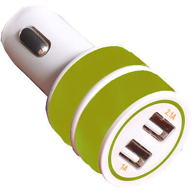 Land mark Car charger LM CC 502 with cable  -ez036- Green - EZELLER