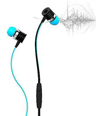 BS Power Ear Phone head phone - Universal supported 3.5mm Head phone with MIC EZ061(SKY BLUE) - EZELLER