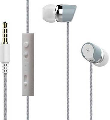 BS Power head phone ear phone Headphone with MIC EZ031-Grey - EZELLER