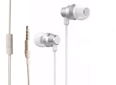 BS Power ear phone head phone - Universal supported 3.5mm Head phone with MIC-EZ030(Silver) - EZELLER