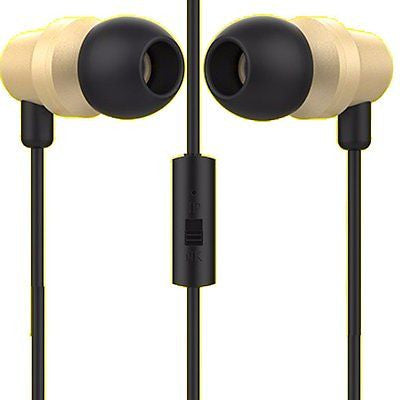 BS Power ear phone head phone - Universal supported 3.5mm Head phone with MIC-EZ030(Gold) - EZELLER