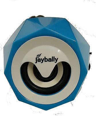 Jaybelly Speaker 3.5 mm Universal supported Wired Stereo Speaker  ez045-blue - EZELLER