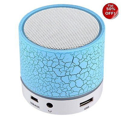 Mini Bluetooth Speaker With USB Port / Memory EZ063-Blue Crack - EZELLER