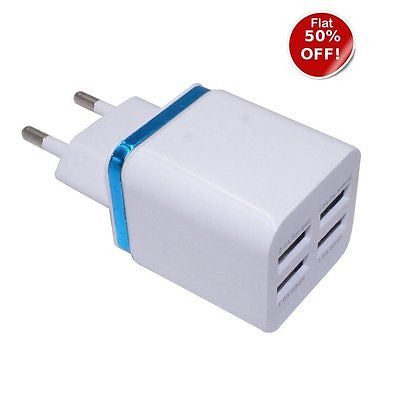 BS Power Charger  Smart Wall Charger 4 USB  Adaptor - EZELLER