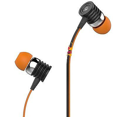 BS Power Ear Phone head phone - Universal supported 3.5mm Head phone with MIC EZO61(ORANGE) - EZELLER