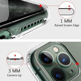 Focus Case Compatible for iPhone 11 PRO Transparent Back Case with Side Gripper + Hard TPU Bumper - EZELLER