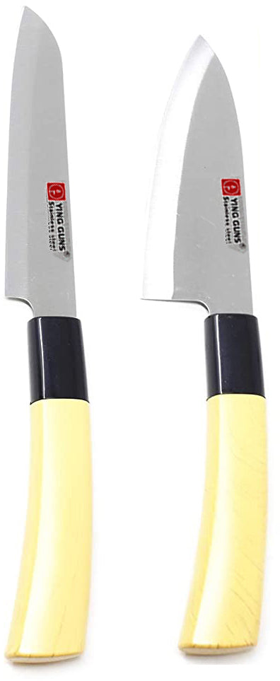 Knife Set (Pack of 2) Chef Knife & Sashimi Knife for Cutting Fruits, Vegetable, Meat, Fish & More