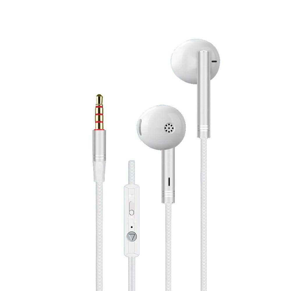 Metal Shell Bass Earphone with MIC & Vol (+/-) for iPhone, IPad, Android Mobiles, Computers EZ460 - EZELLER