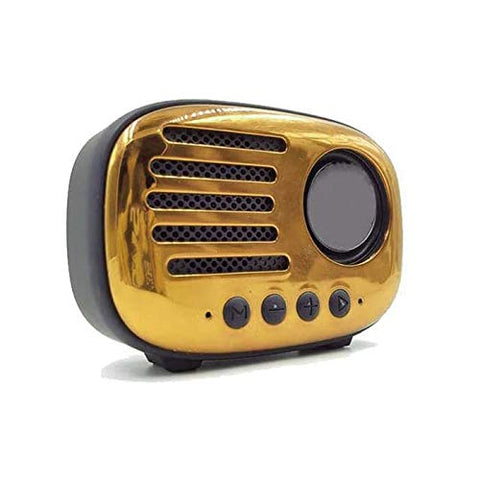Kstar Retro Wireless Bluetooth Speaker with Sub-Woofer FM Radio USB Slot SD Slot Aux & Mic EZ461 - EZELLER