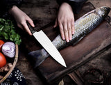 Large Kitchen Knife (2 Packs) 9 Inches (Chief Knife + Butcher Knife) EZ477 - EZELLER