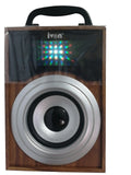 Wooden Speaker with Disco Lights by IVON FM Radio, USB Drive & TF Card Slot, Aux-in & Mobile Stand for All Smart Phones, Laptops and Tablets - EZELLER