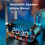 Alarm Clock Digital LED Clear Night Vision Display with FM Radio, Bluetooth Speaker with USB & TF Card Slot (Assorted Clrs) - EZELLER