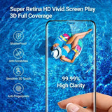 iPhone XR Full Tempered Glass 11D by Tel, Ultra Clear, Zero Bubbles, Sensitive Touch - EZELLER