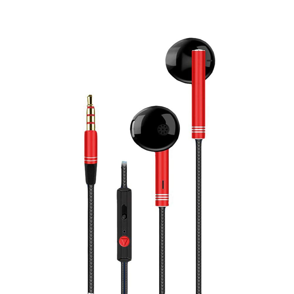 Metal Shell Bass Earphone with MIC & Vol (+/-) for iPhone, IPad, Android Mobiles, Tablets, Laptops, Computers EZ460 - EZELLER