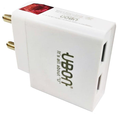 Mega Boost - Smart Wall Charger 4 USB ( 2.1 A / 1.0A  / 1.0A/ 1.0A  ) Adaptor - EZELLER