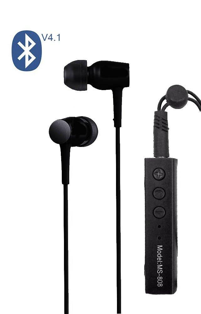 Metal Head with Beat  Control Bluetooth Headphone with MIC EZ080-BLACK - EZELLER