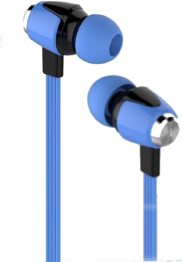 EAR PHONE Headset with Mic and Volume Controller 3.5Mm Jack-EZ181-BLUE - EZELLER