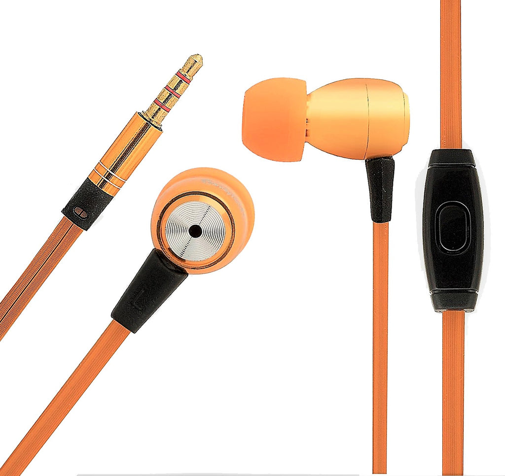Metal Earphone with Mic Gold plated 3.5 mm jack  EZ314 - EZELLER