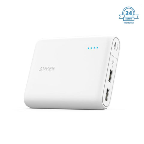 ANKER  Powerbank  10400 Mah PowerCore with Power IQ -  ( 2 year Warranty ) EZ337 (white) - EZELLER