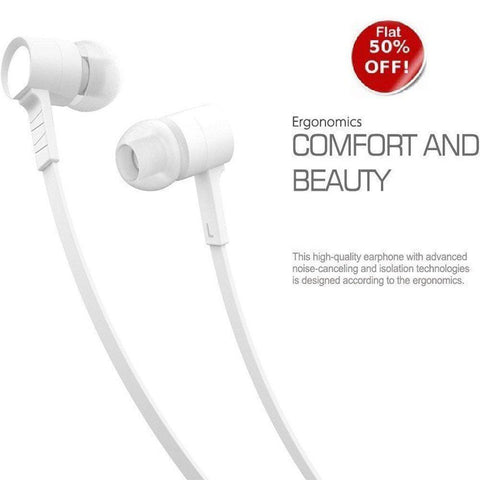 BS Power D2 ear phone Bazooka  BASS series - EZ034 WHITE - EZELLER