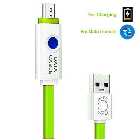 EZ High quality OEM Cable Lighting Data Cable with LED light for all Devices EZ052-green - EZELLER