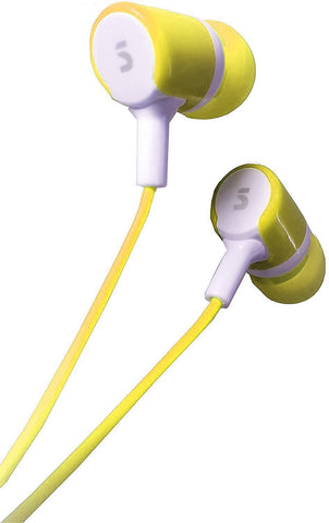 EAR PHONE/Head phones! Bullet-on-Series - SONILEX ( YELLOW ) EZ169 - EZELLER