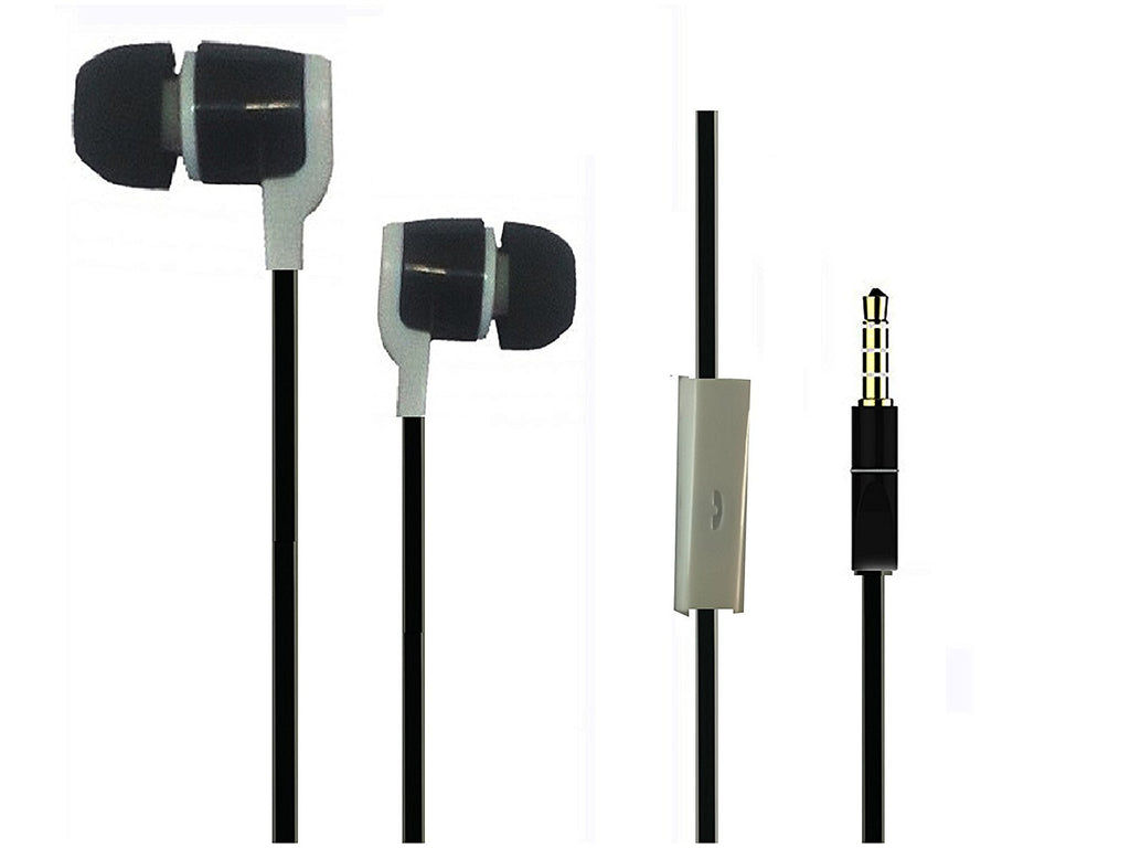 Ear phone with MIC headphone for Music and Calls EZ192- Raven Black - EZELLER