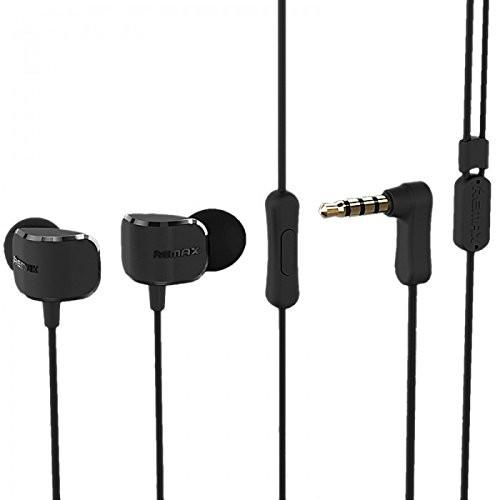 REMAX® Crazy Earphones with Built-In Microphone and Play -EZ212-(BLACK) - EZELLER