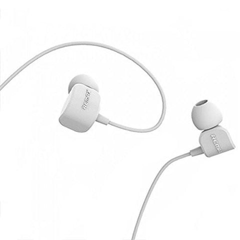 REMAX® Crazy Earphones with Built-In Microphone and Play -EZ212-(White) - EZELLER