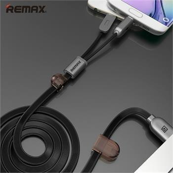 REMAX Twins Series 2 in 1 Apple Lightning & Micro USB -EZ213-Black - EZELLER